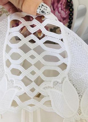 Блузка из натурального шёлка с кружевом6 фото