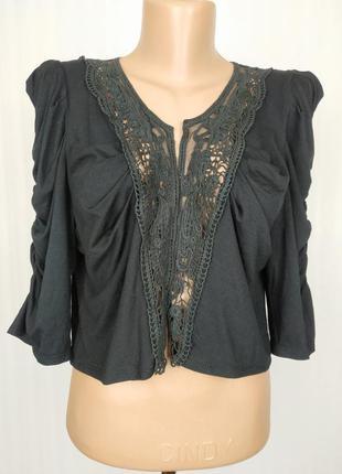 Блуза накидка новая кружевная трикотажная шикарная george uk 16/44/xl