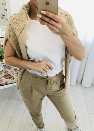 Бежевый свитер с содержанием мохера4 фото