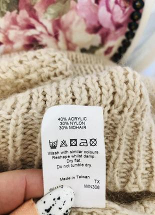 Бежевый свитер с содержанием мохера6 фото