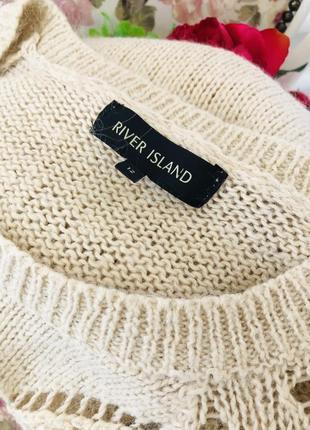 Бежевый свитер с содержанием мохера7 фото