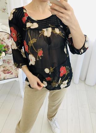 Lauren conrad шифоновая рубашка блузка в цветочный принт1 фото