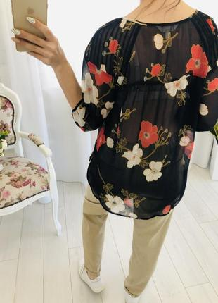 Lauren conrad шифоновая рубашка блузка в цветочный принт3 фото