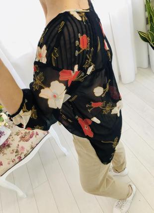 Lauren conrad шифоновая рубашка блузка в цветочный принт4 фото
