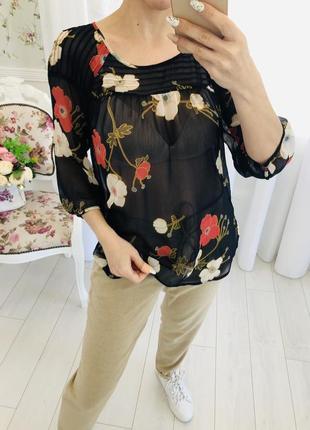 Lauren conrad шифоновая рубашка блузка в цветочный принт5 фото