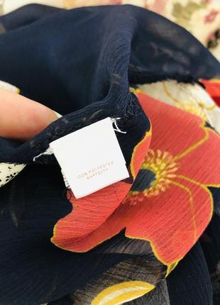 Lauren conrad шифоновая рубашка блузка в цветочный принт7 фото