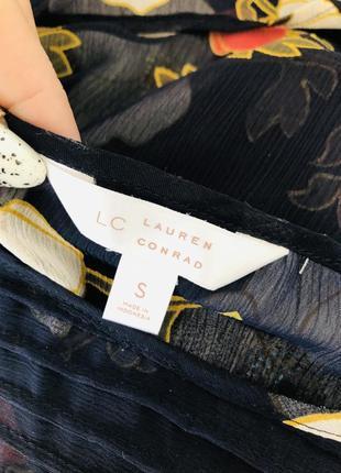 Lauren conrad шифоновая рубашка блузка в цветочный принт8 фото
