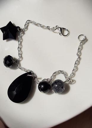 Гарний браслет на руку цепочка/браслет женский цепочка с подвесками