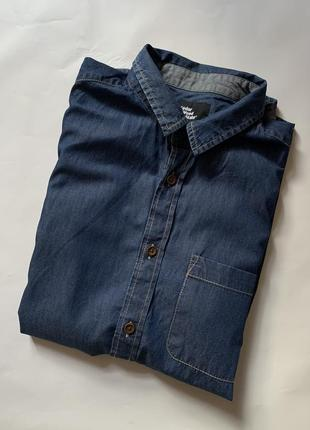 Тенниска рубашка джинсовая