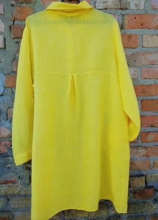 Плаття шикарне ,льон італія2 фото