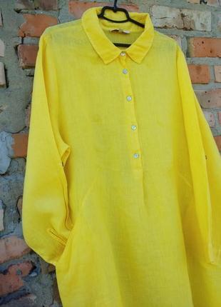 Плаття шикарне ,льон італія3 фото