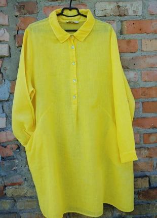 Плаття шикарне ,льон італія