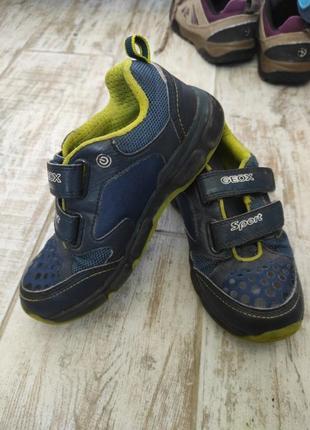 Кроссовки туфли с мигалками geox 30p.,19см стелька