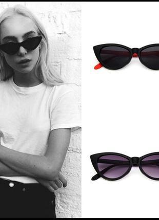 Новые черные очки с красными дужками