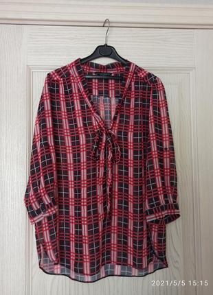 Фирменная шифоновая блуза dorothy perkins