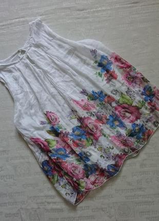 Очаровательная блуза (италия) /воздушная майка на подкладке #50%шелк,50%вискоза#