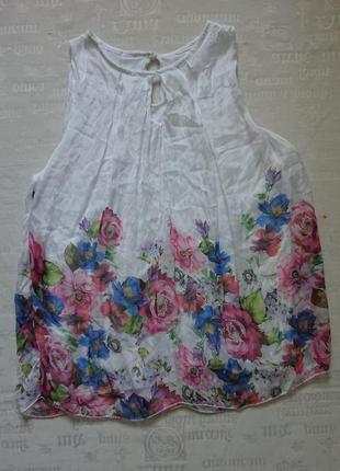 Очаровательная блуза (италия) /воздушная майка на подкладке #50%шелк,50%вискоза#2 фото