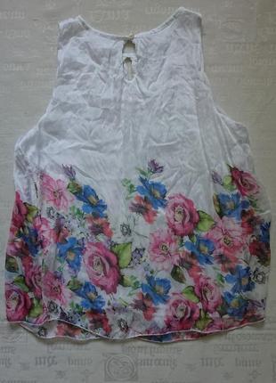 Очаровательная блуза (италия) /воздушная майка на подкладке #50%шелк,50%вискоза#3 фото