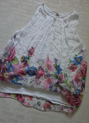 Очаровательная блуза (италия) /воздушная майка на подкладке #50%шелк,50%вискоза#4 фото