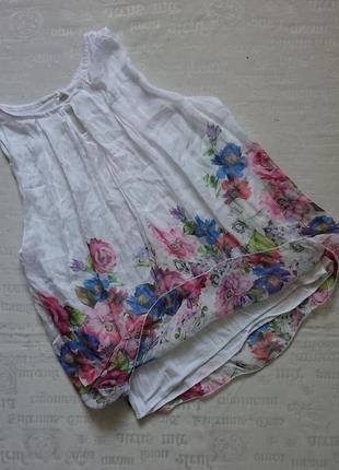 Очаровательная блуза (италия) /воздушная майка на подкладке #50%шелк,50%вискоза#8 фото