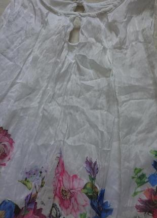 Очаровательная блуза (италия) /воздушная майка на подкладке #50%шелк,50%вискоза#9 фото