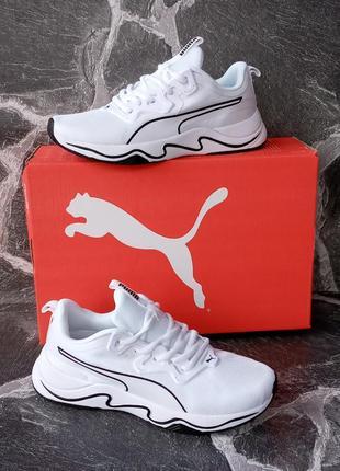 Женские кроссовки puma runner белые,летние