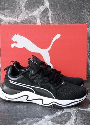 Черные кроссовки puma runner летние,черные,беговые