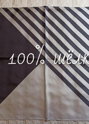 🎀 платок полоска  100% шёлк
