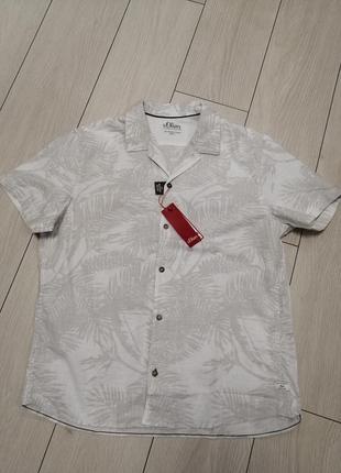 Мужская тениска хлопок s. oliver