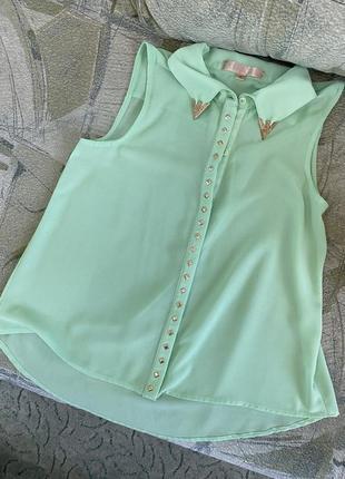 Шифоновая рубашка блуза5 фото
