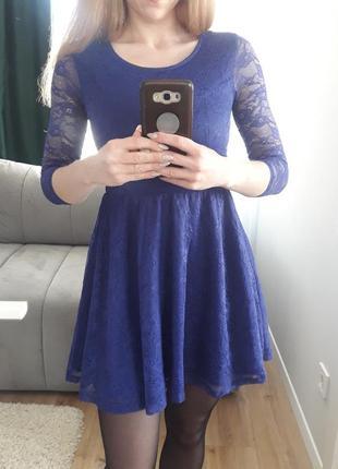 Стильное синее летнее платье divided by h&m стильне синє літнє плаття divided by h&m