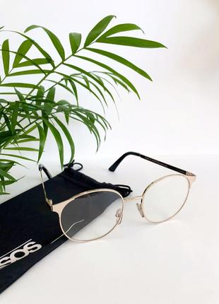 Имиджевые прозрачные очки стекло тонкая оправа asos