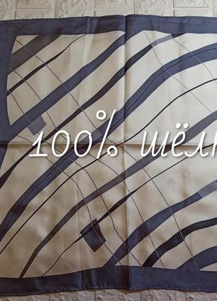 🎀 платок геометрический принт 100% шёлк