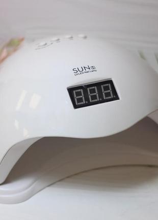 Led лампа sun 5 48 ват для сушки гелей, гель-лаков, лампа для маникюра и педикюра