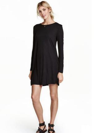 Черное базовое платье h&m