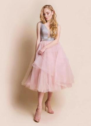 Шикарное выпускное платье миди