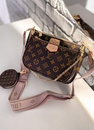 ❤ женская коричневая брендовая сумочка   ❤