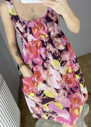 Платье сарафан в цветочный принт2 фото