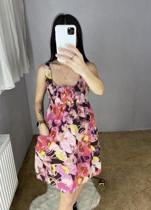 Платье сарафан в цветочный принт