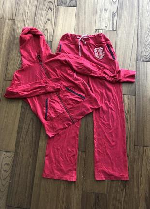 Спортивный костюм philipp plein красный алый коралловый