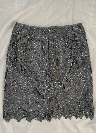 Нарядная юбка в пайетках h&m