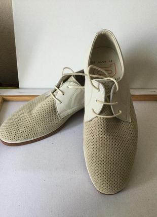 Новые замшевые весенние, летние туфли 42
