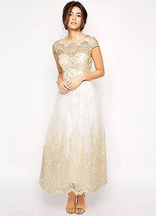 Вечернее,выпускное платье от chi chi 6-8р