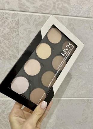 Nyx professional makeup highlight & contour pro palette палетка для контурирования