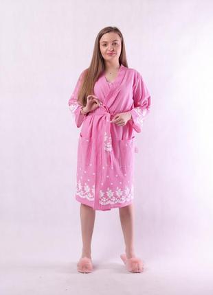 Комплект, халат и сорочка 17202 фото