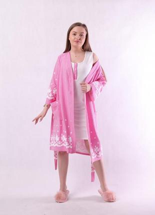 Комплект, халат и сорочка 17201 фото