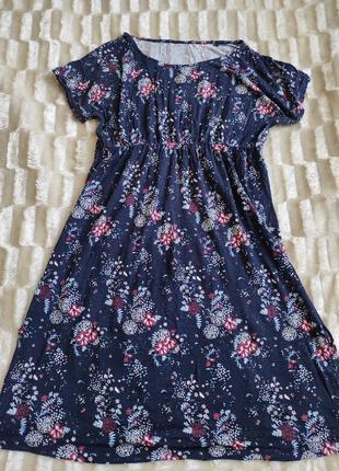 Летнее платье цветочный принт вискоза миди можно для беременных