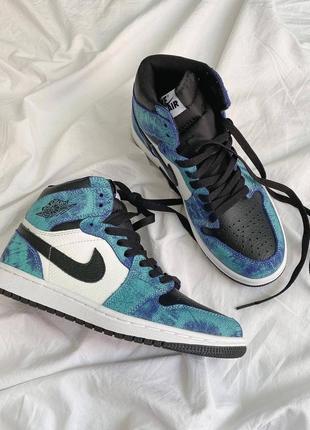 Jordan 1 retro tie dye 💎😲 унисекс кожаные кроссовки