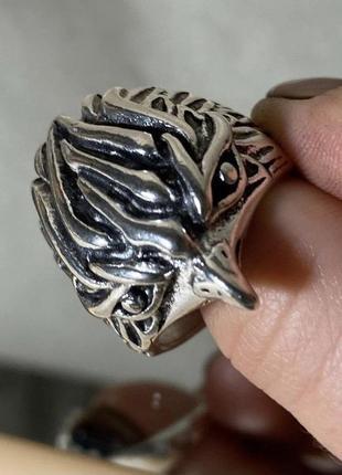 Кольцо с птицей, массивное кольцо панк, кольцо гранж