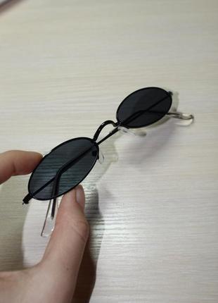Очки овальные, имиджевые, очки круглые, солнечные очки